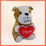 Dog with Heart Plush Toys  JVP-019